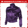 High Quality Purple Fashion Satin Bomber Jacket Women (ELTBJI-62)