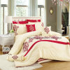High Quality Shining Color 7pieces Embroidery Quilt Set Bedding Set