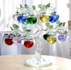 Beautiful Christmas Gift Crystal Apple with Tree