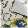 Printed Polyester Linen Fabric with Brushed Backing for Home Textile