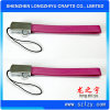 Wholesale Pink Custom Artificial Leather Keychain with Durable Ring