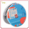 Customized Printed Round Shape Double Sided Leather Makeup Mirror