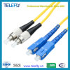High Quality Low Price Low Insertion Loss G657A2 Singlemode Duplex Sc/Upc-FC/Upc Fiber Optic Jumper Optical Fiber Patch Cord, 2.0mm/3.0mm, 3 Meters