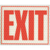 China Suppliers High Quality Weather Resistant Reflective Glow Exit Sign Reflective Banner Sign