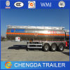Water, Milk Transport 3 Axles Stainless Steel Fuel Tank Trailer