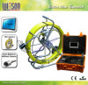 Witson Waterproof Pipe Inspection Camera with Push Rod Wheel Fiberglass Cable up to 120m Cable