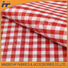 High Fashion Red Polyester Check Fabric