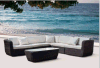Outdoor Round Rattan Sofa