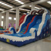 Blue Inflatable Slide with Pool