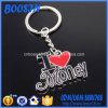Cheap Zinc Alloy I Love My Country Keychain