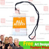 Strings Lanyard with ID Card Holder