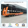16m 80t Extendable Trailer Lowbed Semi Trailer with 3 Axles