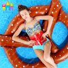 Water Inflatable Floating Pretzel Circle Bread Swimming Rings Pool Float