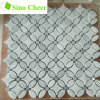 Natural Stone Tile White Mosaics Marble Flooring Material Mosaic Stone