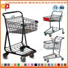 Metallic Wire Compact Grocery Supermarket Handling Shopping Trolley Cart (Zht207)