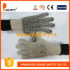 Ddsafety 2018 Natural Cotton String Knit Glove with Black PVC Dots One Side