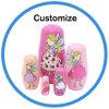 Custom Varnishing Printting Handmade Nesting Doll for Kids