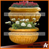 Yellow Stone Simple Flower Planter in Garden Nsp040