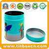 Custom Airtight Round Can Metal Tin with Screwed Plastic Lid