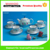 Fancy Design Porcelain Coffee Tea Set of Hand Printing Finished