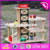 New Products Funny Parking Toy Boys Wooden Garage Playset W04b051