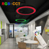 Synchronized Color Changing RGB+CCT Round Ring LED Pendant Profile Light with Remote Control