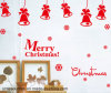 PVC Merry Christmas Wall Stickers (HA52010)