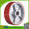 Polyurethane Mold on Cast Iron Wheel for Industrial Casters