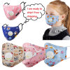 Children Fashion Carton Face Mask Anti Dust Gas Hygiene Mouth Mask Cotton Reusable Filter Masks with Value Germ Protection for Kids