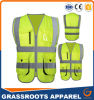 100 Polyester High Visibility Reflective Safety Vest Multi Pocket Workwear Waistcoat