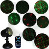 Red and Green Star Motion Christmas Garden Shower Laser Light