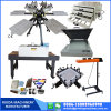 China Manufacturer 6 Color 6  Station T-Shirt Screen Printing Full Set with Micro Registration
