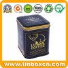 Premium 3D Embossed Metal Square Coffee Tin Box with Matt Varnish for Tea Food Storage