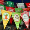 Outdoor Latest Fashionable Beautiful Fabric Flags Printing for Birthday Party
