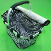 Insulated Lunch Box Satin Shopping Basket with One Folded Frame