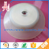 White Abrasion Resistant Flexible Rubber Vacuum Suction Cup with Metal Screw
