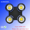 4 PCS 100W Waterproof Four Eye Blinder COB LED PAR Lights Stage Lighting Warm White and White 2 in 1