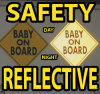 Baby on Board Reflective Sign Magnetic Safety Kit