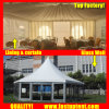 Supplier Solid Glass Wall Hexagon Tent for New Product Show Diameter 12m 150 People Seater Guest