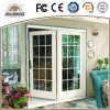 China Factory Customized Factory Cheap Price Fiberglass Plastic UPVC/PVC Glass Casement Doors with Grill Insides Direct Sale