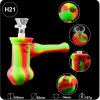 Silicone Smoking Water Pipe Oil DAB Rig Bubbler with Titanium