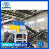 Car Truck Tire Recycling Double Shaft Shredder Rubber Recycling Line