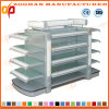 Supermarket Gondola Double Sides Display Shelf with Top Light (ZHs656)