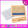 2016 New Design Preschool Child Digital Table Toy, Fashion Wooden Digital Toy, Educational Kid Wooden Blocks Toy W11A036