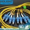 8 Core Fiber Optic Connectors MPO to Sc Jumper Cable Optic Connector Equipment