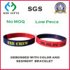 Debossed Silicon Coloring Custom Made Wholesale Wristband