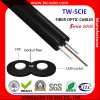 FRP Glass Fiber Optic FTTH Drop Wire Cable with G657A Sm 2 Fibers GJXFH Black