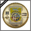 Engraved Number Challenge Coin in Gold Color (BYH-10548)