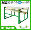 Detachable Wooden Double Student Desk with Chair (SF-44D)