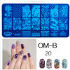2016 Hot Sale Stainless Steel Nail Art Stamping Stencils